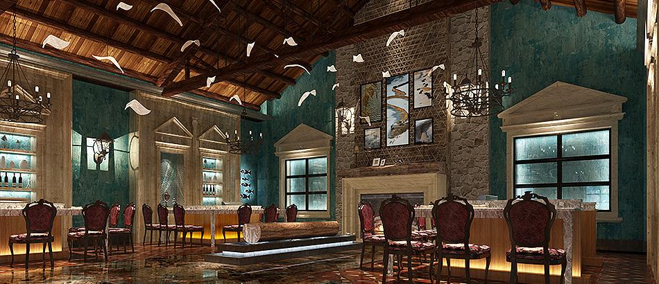 厨配宏渔宴天下餐厅设计装修案例