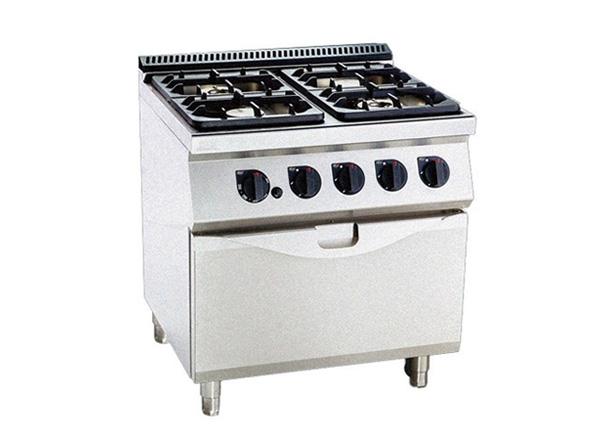 厨配宏四头燃气平头炉连焗炉