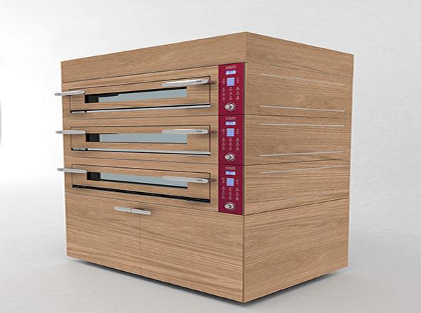 厨配宏电力带装饰三层披萨炉