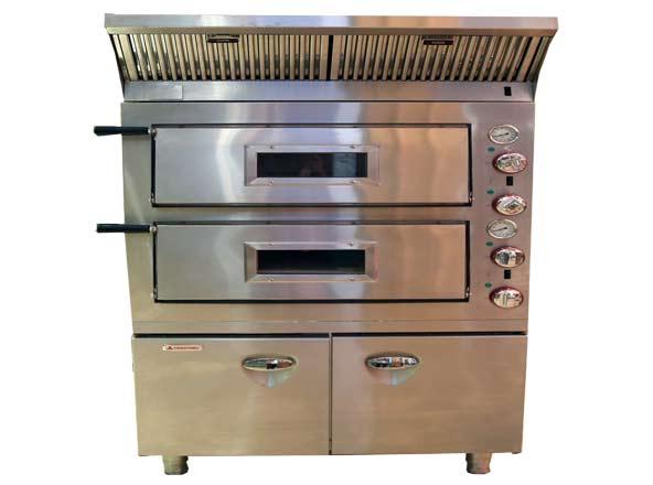 厨配宏双层电比萨烘炉带柜带烟罩