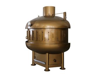 半圆形炭火烤鱼炉